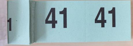 Šatní lístky / lístky do tomboly 41-100,