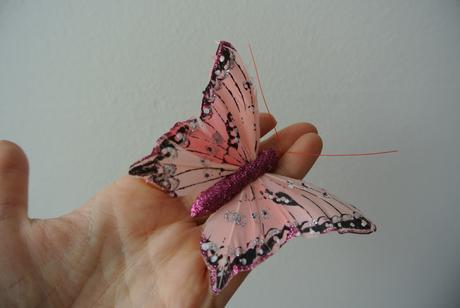 Proutěné srdce s motýlky,