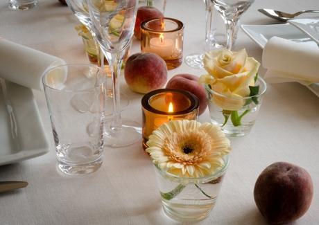 Nízké vázy na stůl 8 ks,