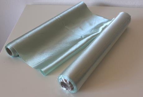 Saténová stuha široká 36cm/9m  - mentolová/zelená,