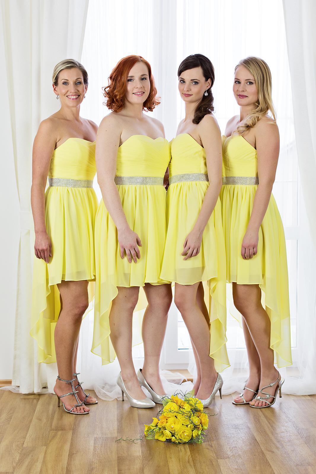 Elegantní žluté společenské koktejlové šaty sandra 135c3858c6