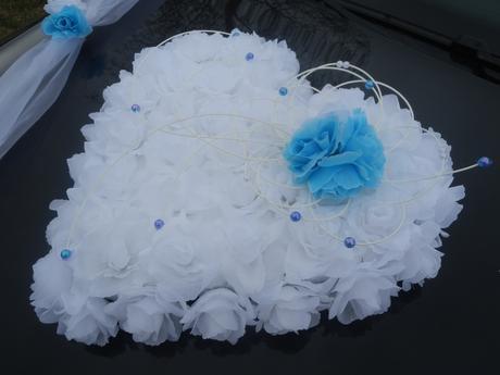 Dekorace na auto pro nevěstu a ženicha, komplet,