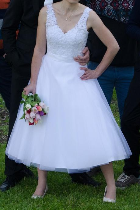 Romantické retro krátké svatební šaty Madora 38-40, 38