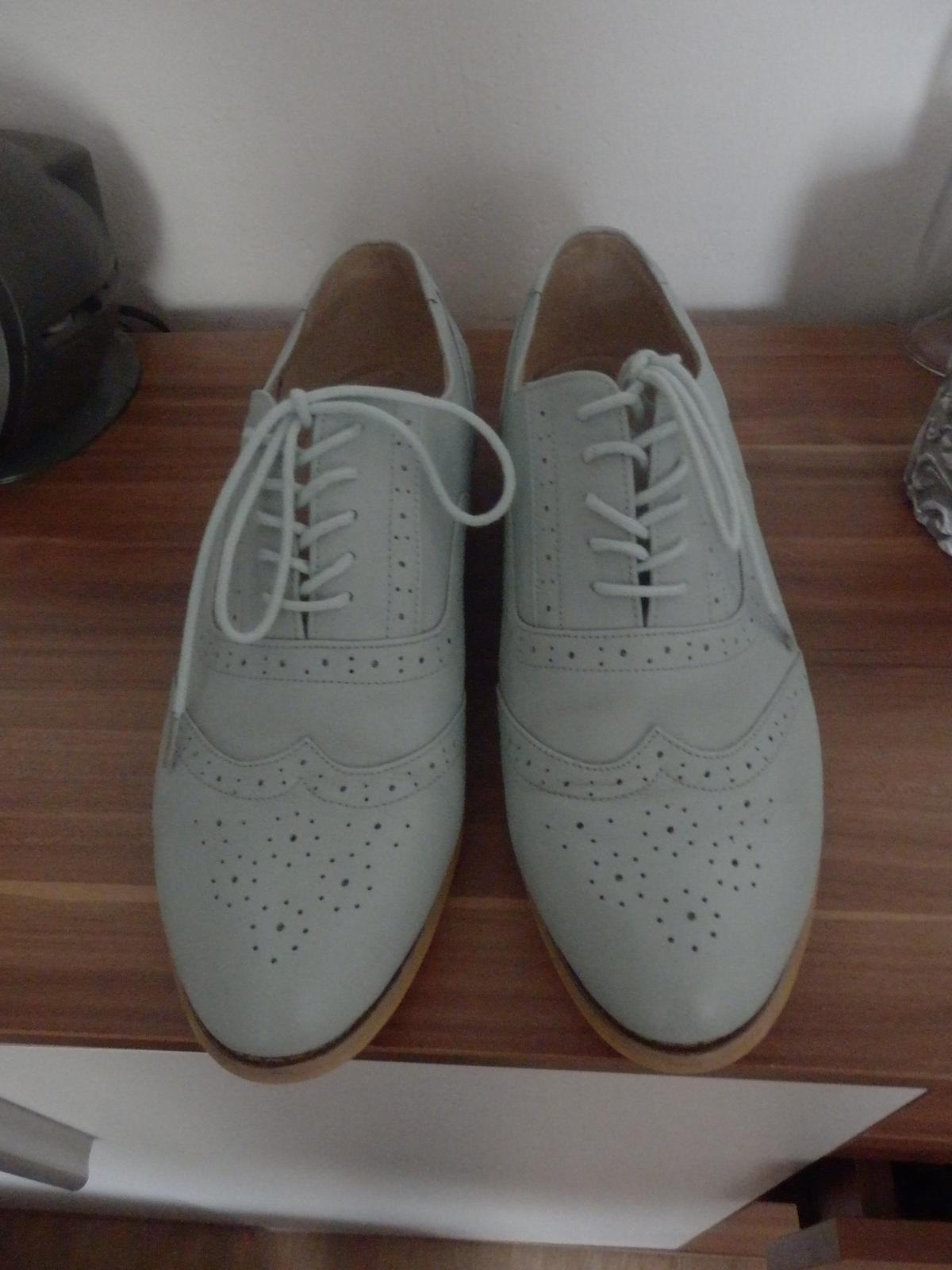 Mentolové kožené boty 0bf414fc0c