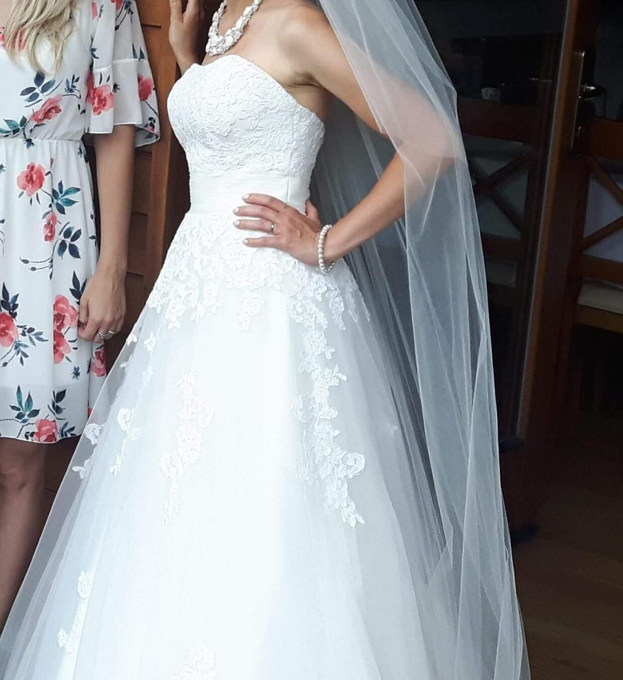 Krémové ivory svatební šaty vel. 32-38 f663be6b72