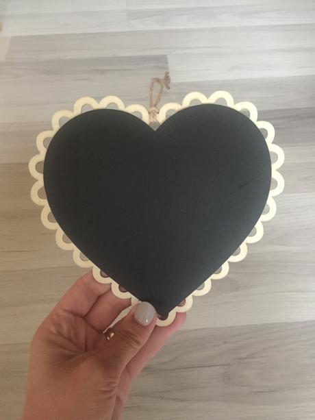 Tabuľka srdce,