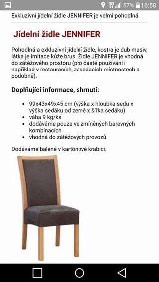 Židle Jennifer - nepoužívané,