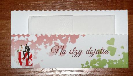 Obálky na servítky - na slzy šťastia.,