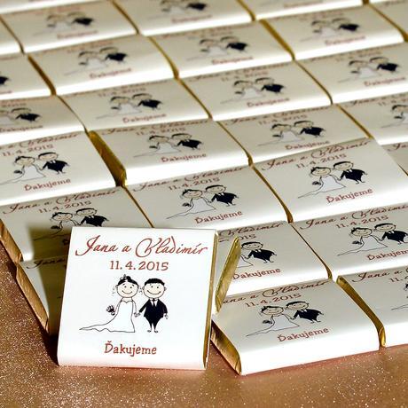 Svadobné čokoládky,
