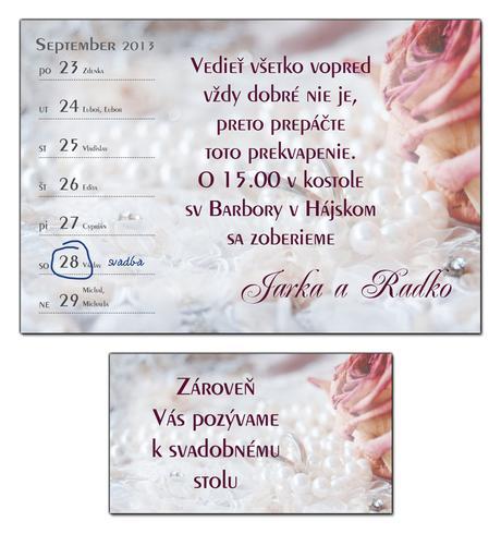 Svadobné oznámenia,