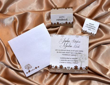 Svadobné sady štvorcové na perleťovom papieri,