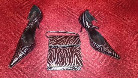 Čierno - šedé topánočky + kabelka, 40