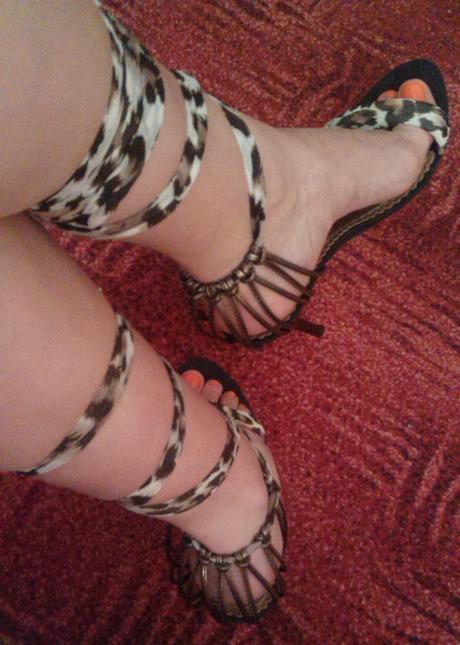 Tigrované letné sandálky, 40
