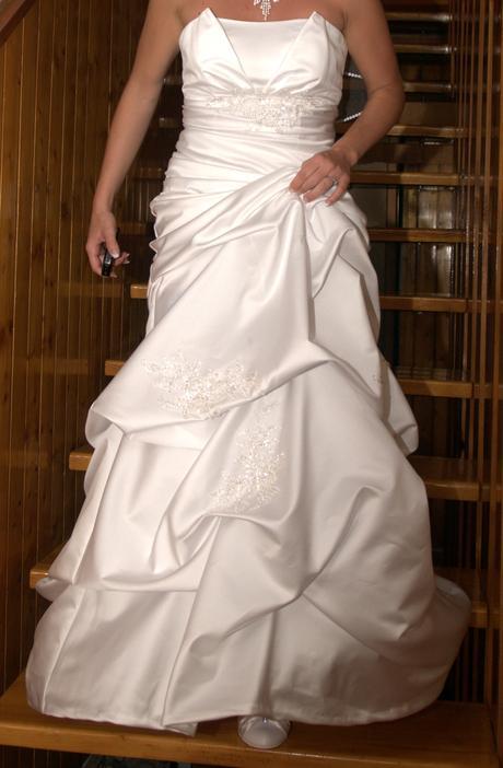 Bílé svatební šaty, vel. 36, 38