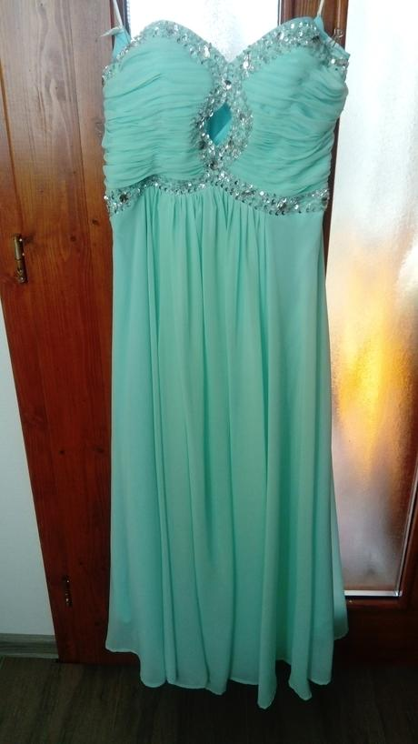 Spoločenské šaty mentolovej farby , 38