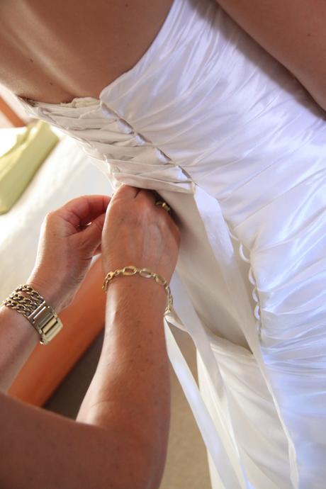 Svatební šaty s páskem s květy 38, 38