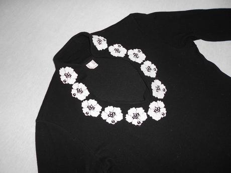 Čierne úpletové šaty, 38