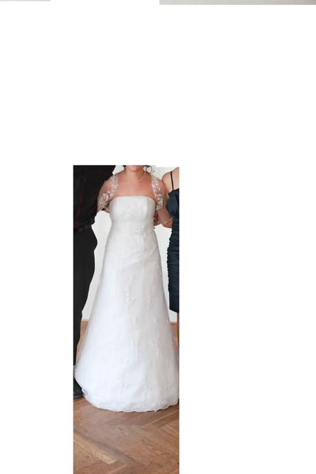 biele svadobné šaty-1x pouzite , 36