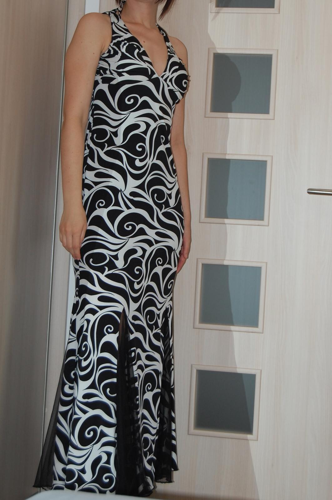 Čierno-biele vzorované šaty dcd808e5e0e