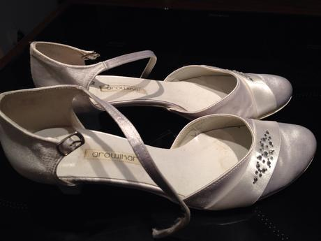 Biele svadobné topánky, 40