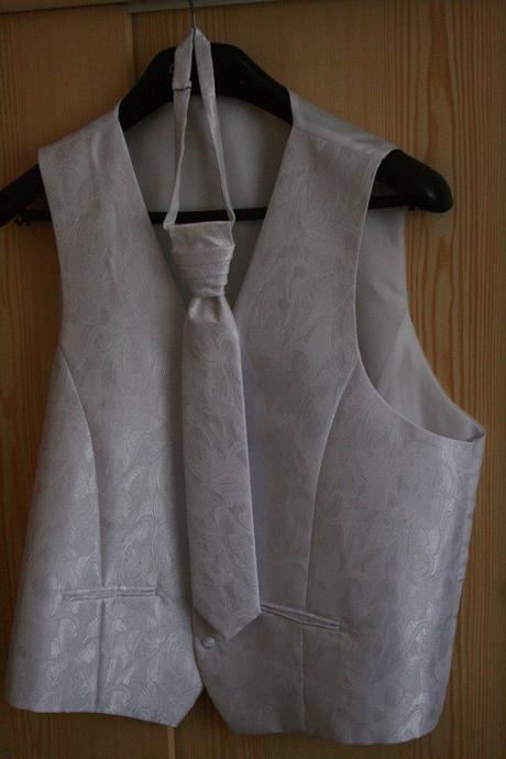 Svadobná vesta, kravata, vreckovka, 60