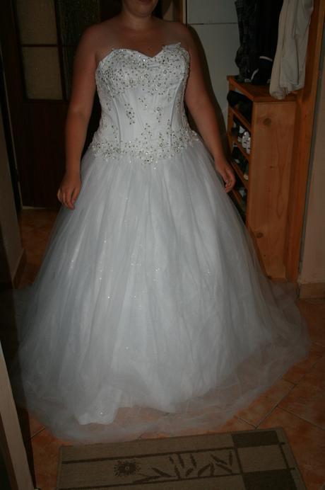 Svadobné šaty tyl 40-44, 44
