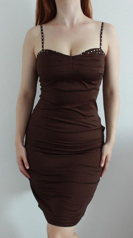 Rovné šaty na ramienka, M