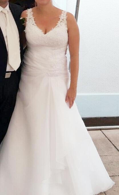 Bílé šaty s ramínky , 40