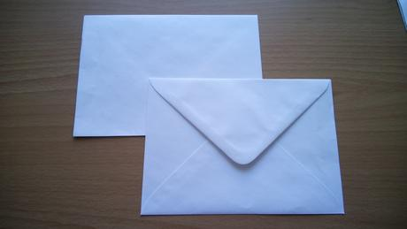 Bílé obálky, formát B6,