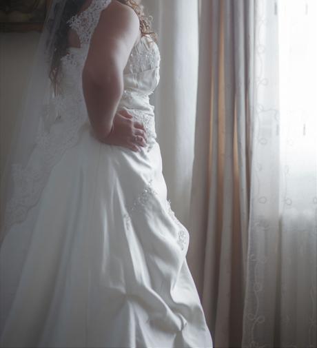 plus size svadobné šaty s vlečkou, 46