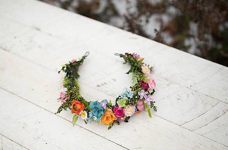 Kvetinový polvenček pre nevestu ,