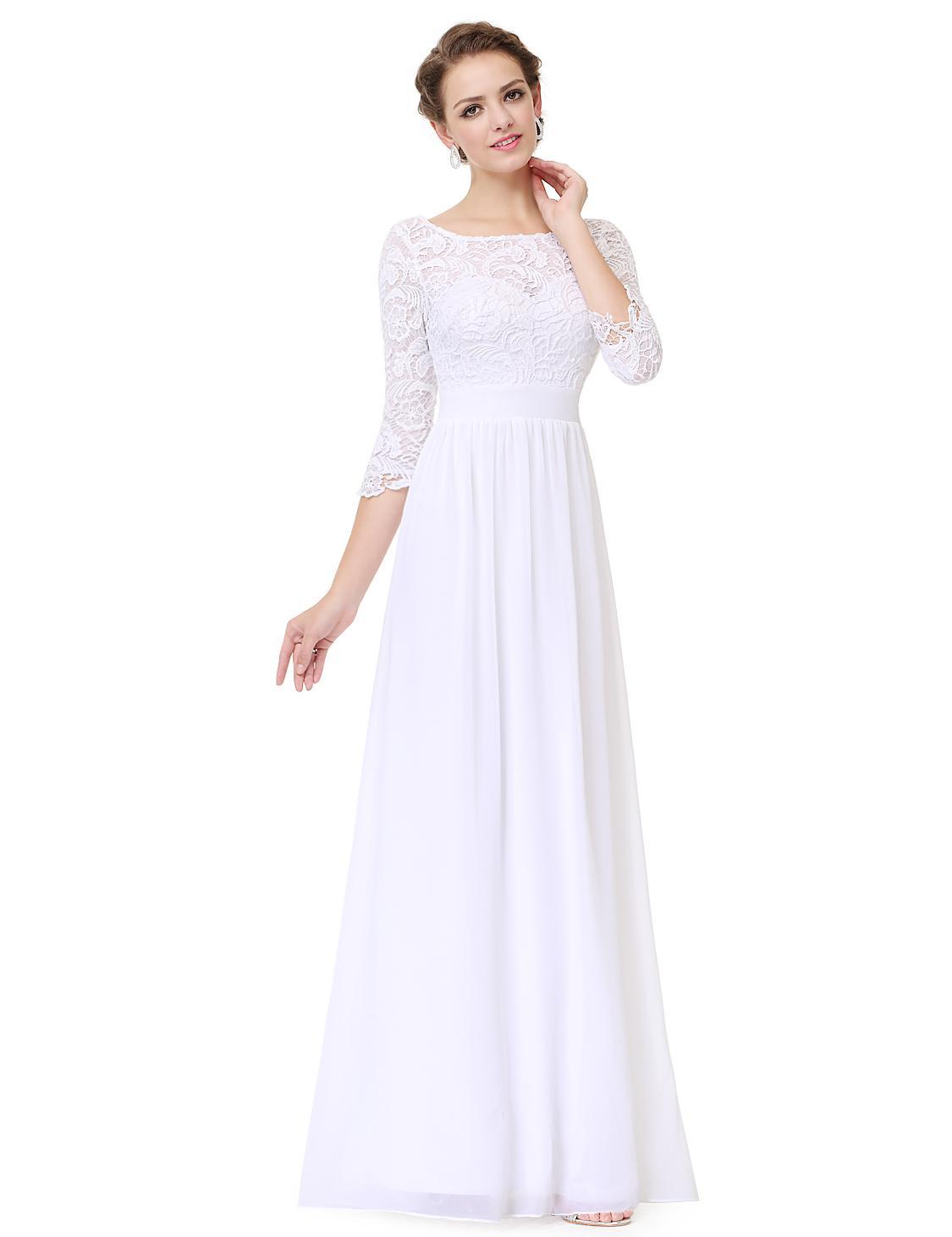 2c2fe70a75a3 Biele svadobné šaty s čipkou a s červenou stuhou