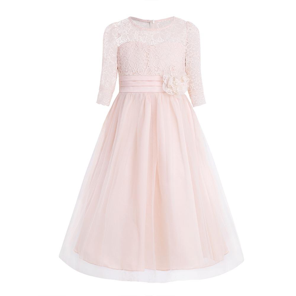Dívčí šaty s krajkou 087c67252f3