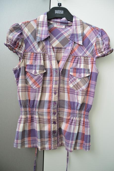 Kostkovaná košile na léto, S