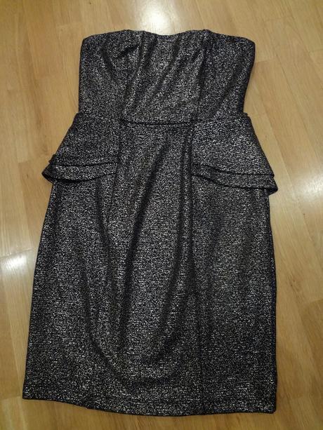 Zlatočerné sexy šaty, S