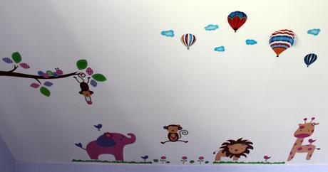 Detské nálepky na stenu/zvieratká,