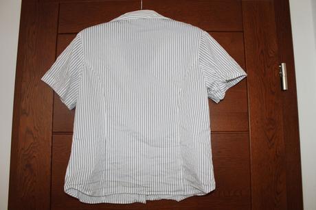 košeľa s čiernymi pásikmi, L