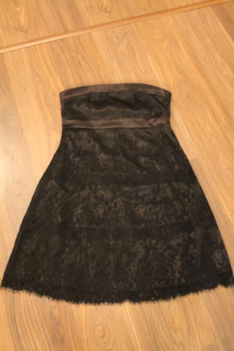 šaty krátke čipkované , L