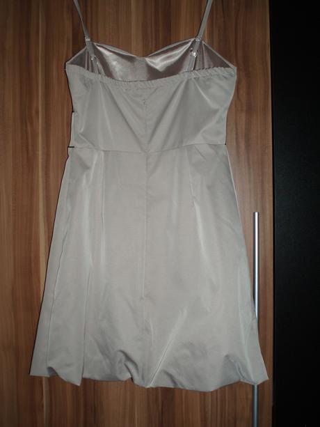Béžové šaty - raz oblečené, 38