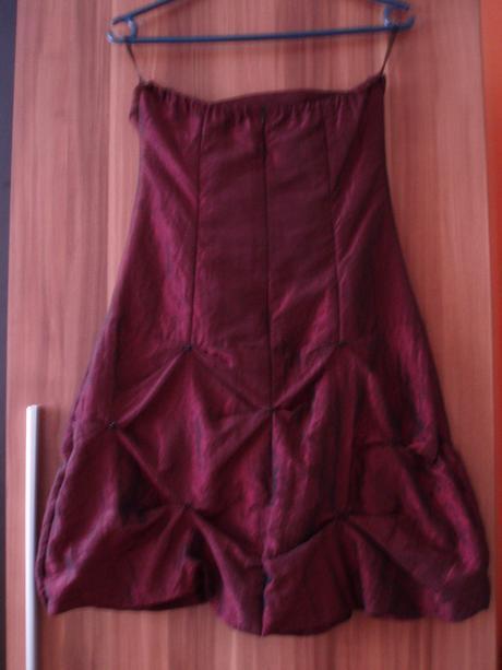 Raz blečené šaty - bordové, 36