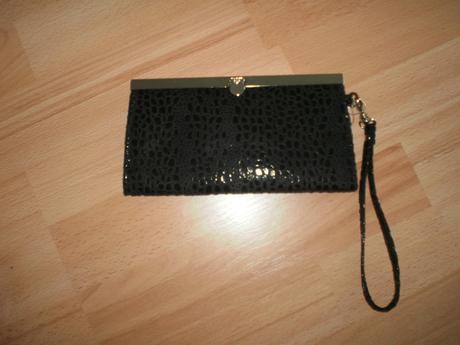 Cierna listová kabelka, XS