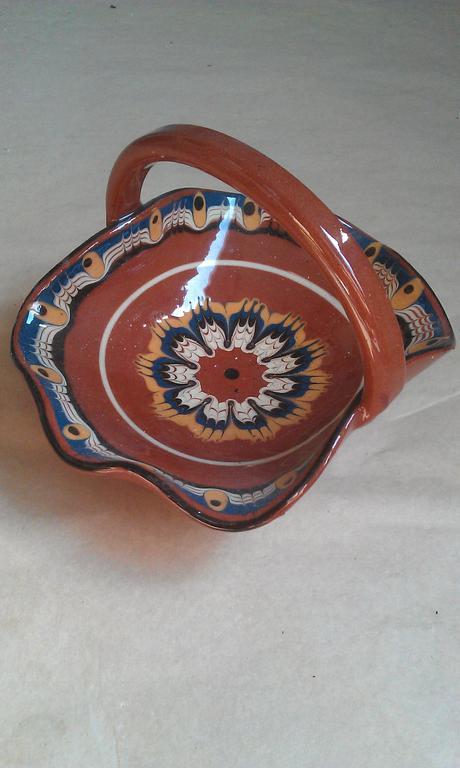 Košík - bulharská keramika,