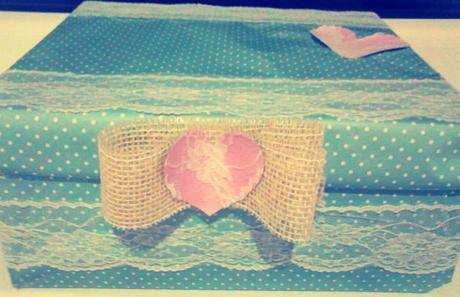 krabička na čokoľvek mentolovo-ruzová handmade,