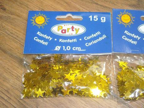 Konfety hvězdičky zlaté,