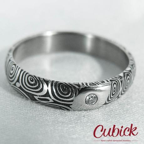 Ballwenir ručně kovaný prsten z damascénské oceli,