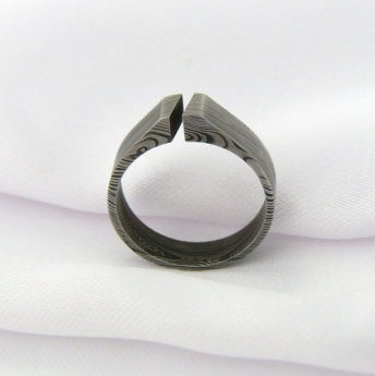 Prsten Gimli z damašské oceli,