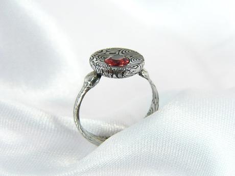 prsten Granadir z damašské oceli,
