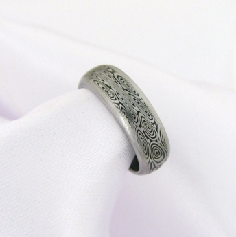 Prsten Odula z damasteel,
