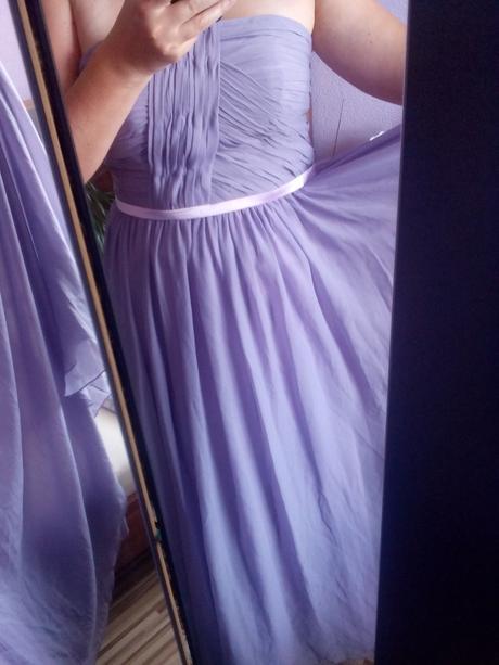 Šaty Dressit pro družičku romantické fialové, 44