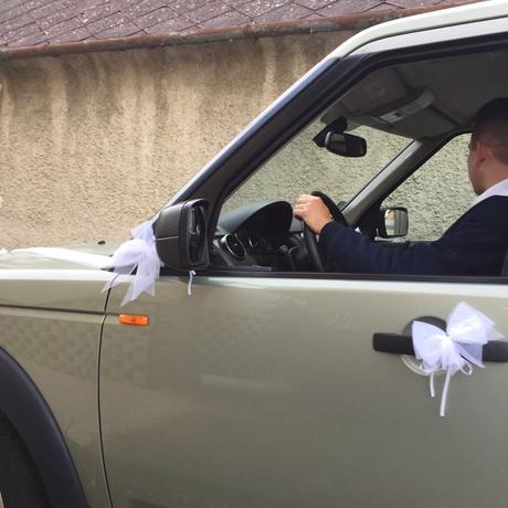 Svadobná výzdoba na auto,